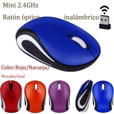 2,4 GHz Mini Ratón Óptico Inalámbrico Mouse Sin cables Receptor USB PC 4 colores