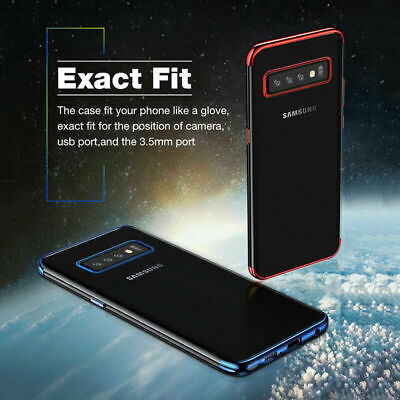 Housse Etui Coque Silicone Transparent Case Samsung Galaxy S10e S10 Plus + Film