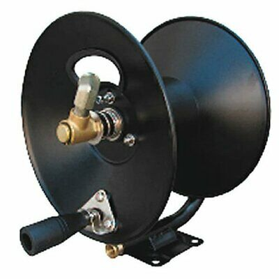 3/8 Inch X 100 Ft Steel Hose Reel With Swivel Arm And Mounting Bracket 4000 Psi