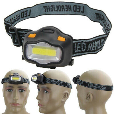 3 lighting mode Working COB LED Fishing Camping AAA Headlight Head Lamp Torch