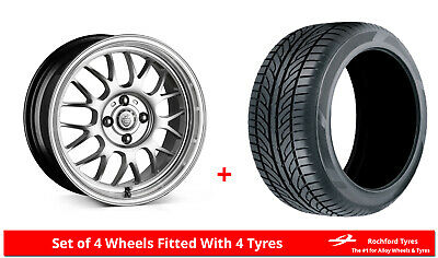 """Alloy Wheels & Tyres 15"""" Cades Eros For Ford Courier 91-06"""