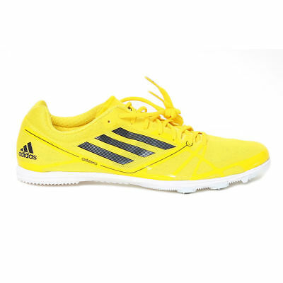 9d54520c9ff4 NEW ADIDAS yellow AVANTI 2 ADIZERO ( UK 11.5 ) SPIKES coolever MID DISTANCE