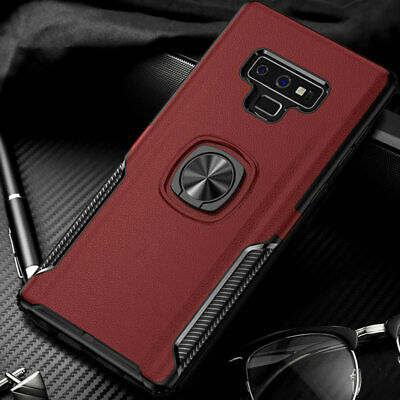 Hybrid Rugged Ring Stand Shockproof Case For Samsung Galaxy S10+ 10e Note 9 S9
