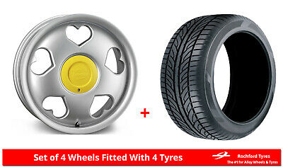 """Alloy Wheels & Tyres 16"""" Tansy Love For Ford Courier 91-06"""