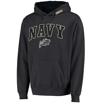 50feaf118 Stadium Athletic Navy Midshipmen Charcoal Arch & Logo Pullover Hoodie