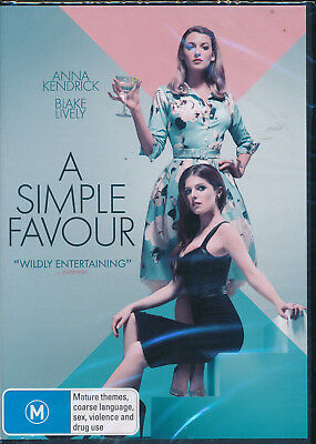 A Simple Favour DVD NEW Region 4 Anna Kendrick Blake Lively