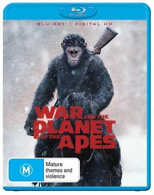 War For The Planet Of The Apes Blu-ray Bluray NEW Australian region B