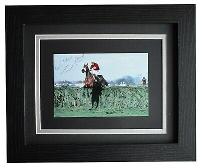Tommy Stack Signed 10x8 Framed Photo Autograph Red Rum Grand National Racing COA