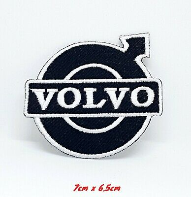 Blue 1711 Iron on  White VOLVO TRUCK PATCH NEW LOGO Sew