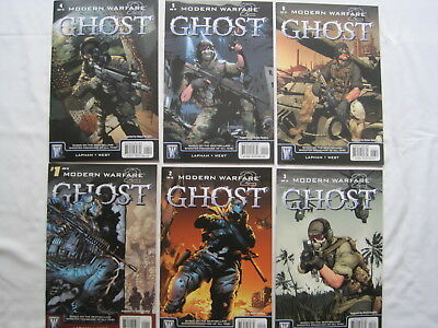 MODERN WARFARE 2, GHOST :Complete 6 issue 2010 series. BASED ON VIDEO GAME.DC/WS