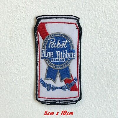 Pabst Blue Ribbon Beer Can Iron Sew on Embroidered Patch#1552
