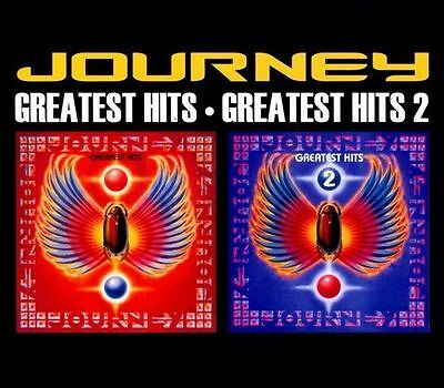 """JOURNEY """"Greatest Hits"""" and """"Greatest Hits 2"""" (2-CD Set) >NEW<"""