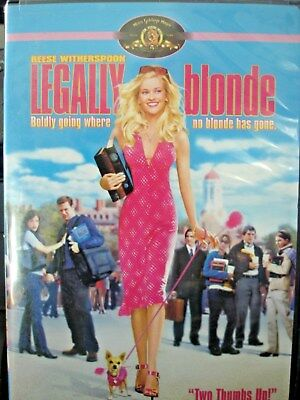 Legally Blonde (DVD, 2001, Widescreen Reese Witherspoon WORLD SHIP AVAIL