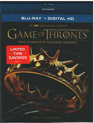 GAME OF THRONES SEASON 2 (Blu-ray, 2014, 5-Disc Set) NEW