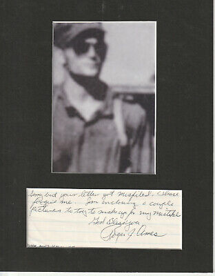 Roger J. Ames signed matted with photo 8x10 frame size COA 3/19 Yamamoto