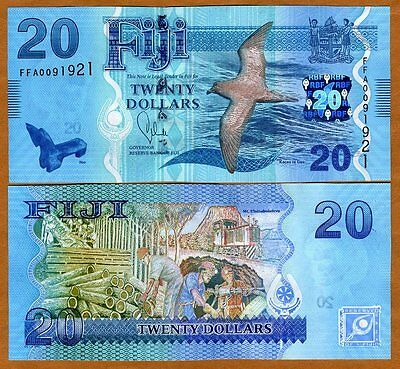 UNC/> ZZA Replacement 2013 P-New POLYMER FIJI 2012 5 dollars