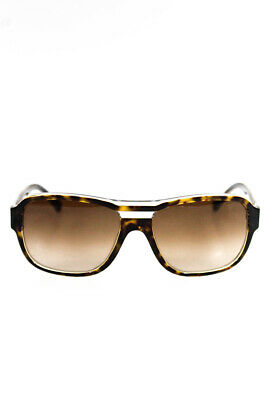 918e94c0f4c Chanel Womens Tortoise Shell Frame Gold Tone Sunglasses Brown Clear 5194