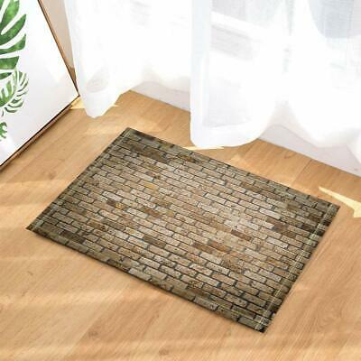 Rustic Decor Old Retro Dirty Brick Wall Bath Rugs Non-Slip Indoor Floor Door Mat