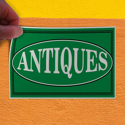 Decal Sticker Antiques Business Vintage Antiques Outdoor Store Sign White
