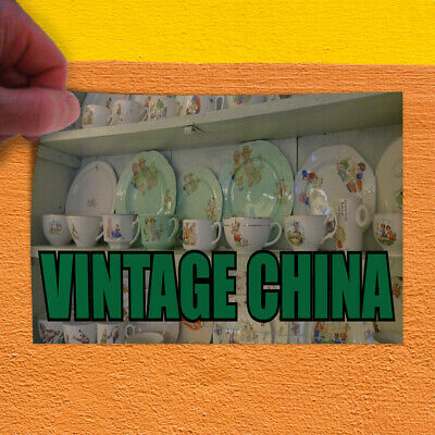 Decal Sticker Vintage China Vintage Vintage China Outdoor Store Sign White