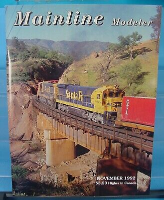 HO,S,N,O MAINLINE MODELER MAGAZINE NOVEMBER 1992 TABLE OF CONTENTS PICTURED