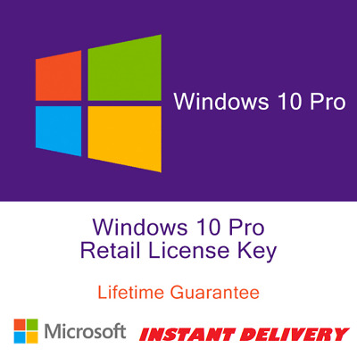 Win 10 Professional Pro Key 32 / 64 Bit Real Retail Key License