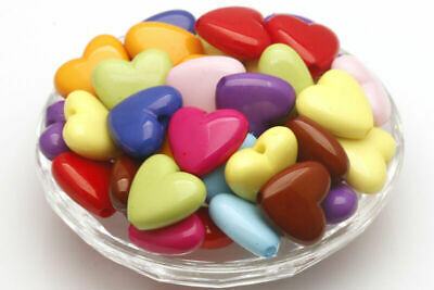 Wholesale Mixed Color Heart Spacer Beads Jewelry Findings 10MM/15MM/17MM/18MM
