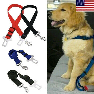 Pet Dog Car Seat Belt Harness Lead Leash Restraint Puppy Travel Safety Clip OCCA