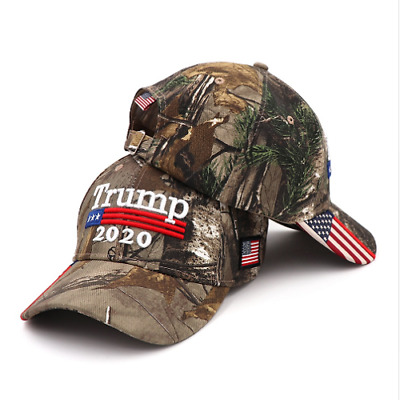 Donald Trump Cap Keep America Great Hat President 2020 Mossy USA Flag Army