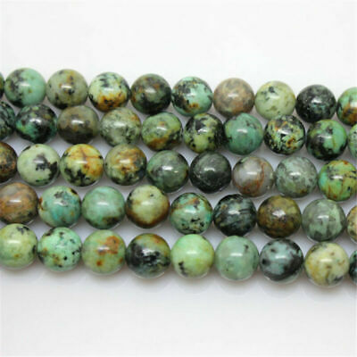4/6/8/10/12MM Natural African Turquoise Gemstone Round Jewelry  DIY Beads