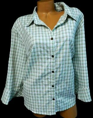 9f2d90ca Cato beige green plaid dotted textured women's plus size button down top  26/28W
