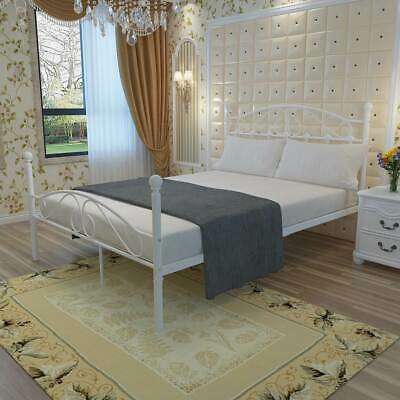 New Bed,Shelby Metal Bed Frame Ivory & Brass 4Ft6 Double Size Available Uk