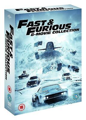 FAST AND FURIOUS 1-8 Box Set [DVD] The Complete 8 Movies Collection UK Region 2
