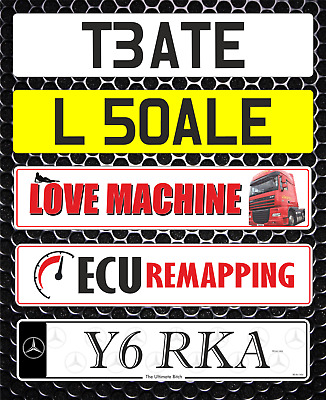 Show Custom Number Plate Not Road Or MOT Compliant Logo Truck Lorry Name Plate
