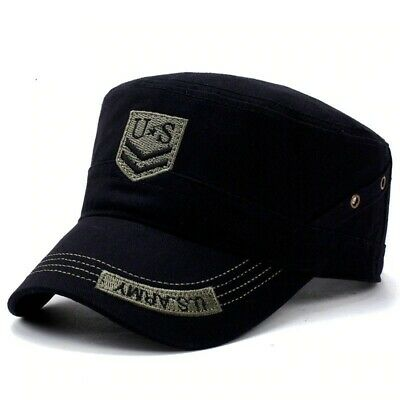 Hats & Caps Men Flat Top Quality Gorras Para Hombre Snapback Man U.S.Army Black