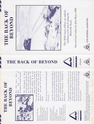 The Back Of Beyond 1954 Classic Along The Birdsville Vhs Video Pal~ A Rare Find~