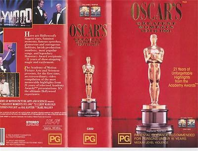Oscars Greatest Moments 1971 To 1991 X 2 Videos Vhs Pal Video~ A Rare Find