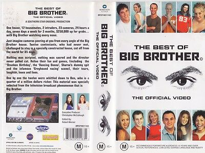 The Best Of Big Brother  The Offical Video Video Vhs Pal Video A Rare Find Mint