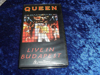 Queen~ Live In Budapest ~ Rare~ Video Vhs Pal