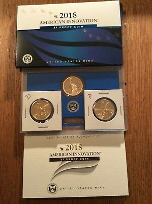 2018 American Innovation Dollar Coins PDS set Proof, P and D