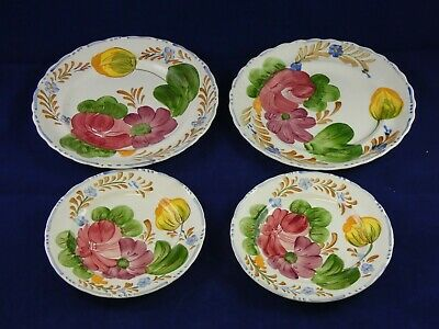 4 Vintage Simpsons Chanticleer Belle Fiore Plates - 2 x side & 2 x small side