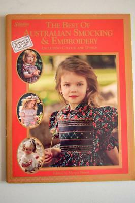 Best of Australian Smocking & Embroidery - Margie Bauer Softcover Book +Patterns