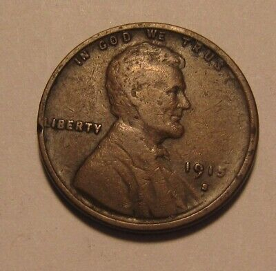1915 S Lincoln Cent Penny - Fine Condition - 10SA