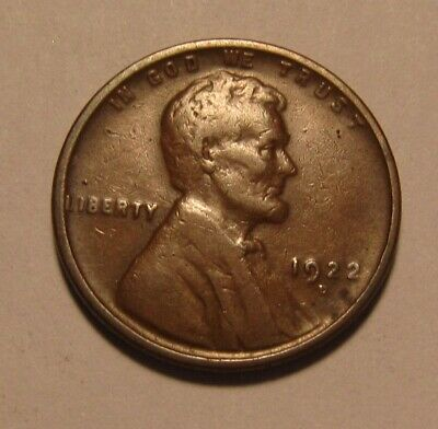 1922 D Lincoln Cent Penny - Fine Condition / Soft Reverse - 14SA