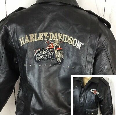 b1f94e3c4 Harley Davidson Jacket Born To Ride Faux Leather Motorcycle Style Youth S -  M