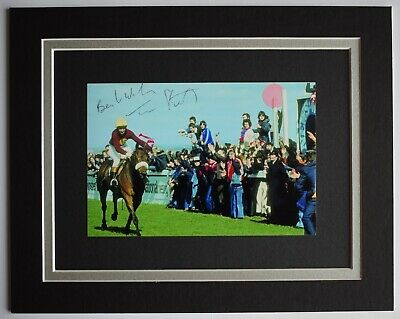 Tommy Stack Signed Autograph 10x8 photo display Horse Racing AFTAL COA