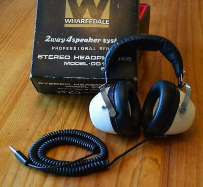 1970's BOXED VINTAGE WHARFEDALE MODEL DD1 PROFESSIONAL STEREO HEADPHONES Japan