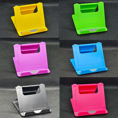 Universal Adjustable Folding Mobile Phone Holder Stand Desk Tablet Portable UK