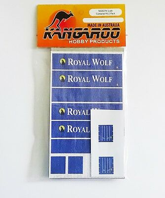 N Scale Container Royal Wolf Kit for 2 containers Kangaroo Brand
