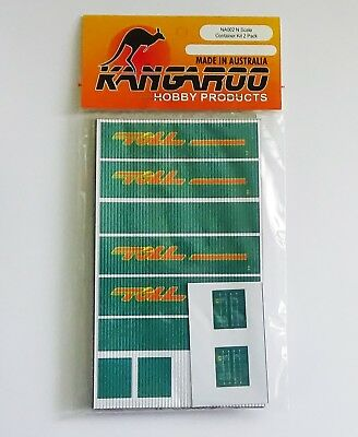 N Scale Container Toll Kit for 2 containers Kangaroo Brand